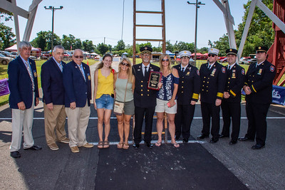 Louis Valentino receives the 2021 Firemen's Association of the State of New York's Youth Mentor of the Year Award 07/24/2021