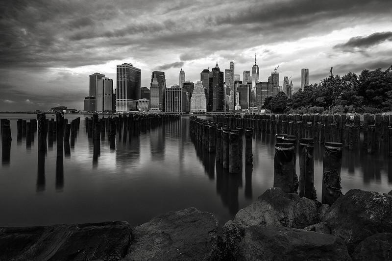 Lower Manhattan at dawn