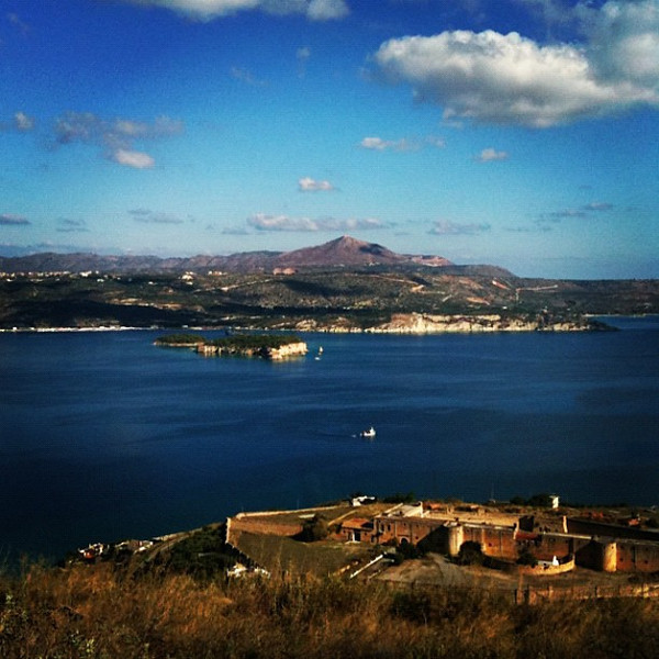 Souda Bay (and home to NATO base). #crete