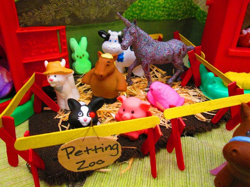 ". \""A Peeps Farm Dinner: Petting Zoo,\"" by April Bogard, Kim Carlton, Angie Cyr, Nicole Koktavy, Sarah Leach, Michelle Messer and Colleen Paulus"