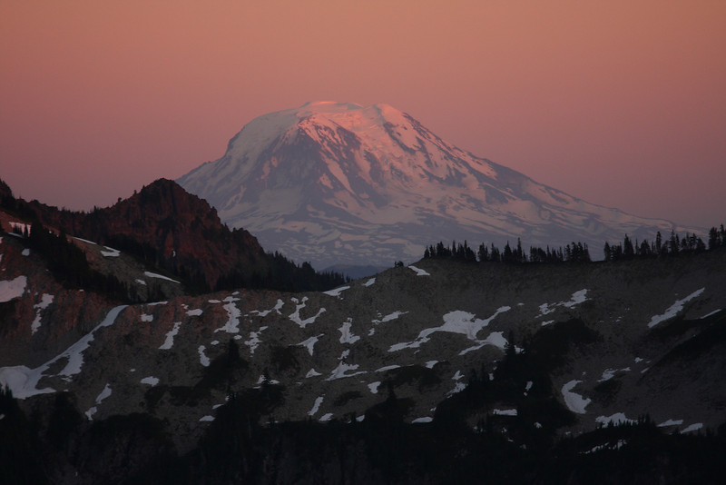 Mt. Adams right before sunset