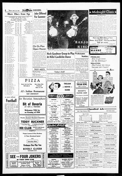Daily Trojan, Vol. 48, No. 49, November 30, 1956