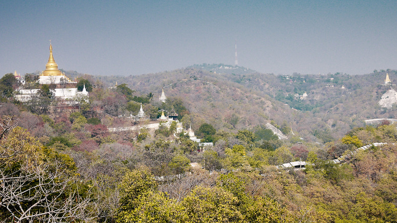The views from the top of Minguin temple, a short day trip from Mandalay, Burma.