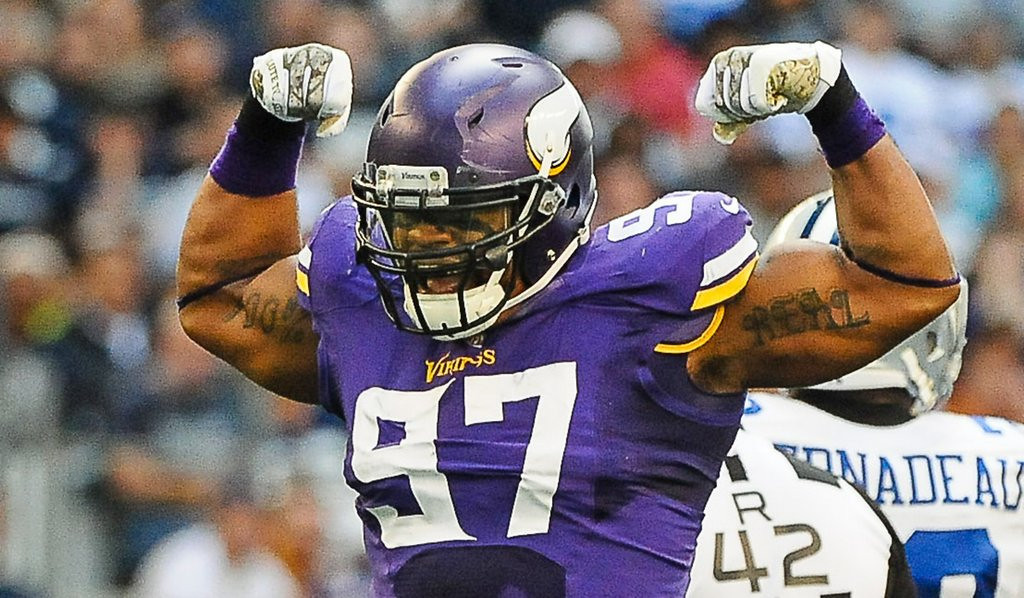 ". <p>7. (tie) NFL FREE AGENCY <p>Signings in Vikings� mirror are smaller than they appear. (1) <p><b><a href=\'http://www.twincities.com/vikings/ci_25307866/vikings-everson-griffen-re-sign-42-5-million\' target=""_blank\""> HUH?</a></b> <p>    (Pioneer Press: Ben Garvin)"
