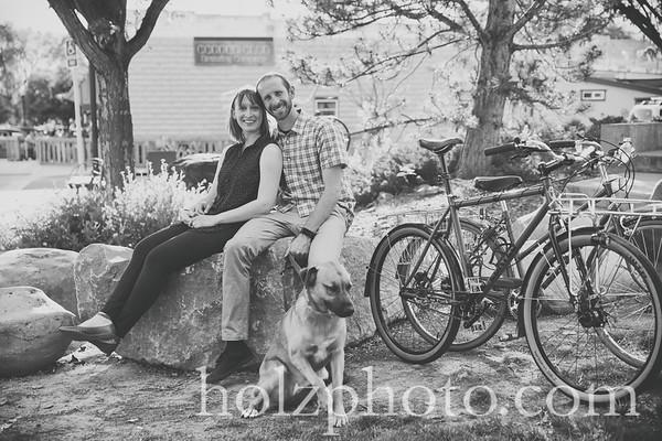 Martina & John B/W Engagement Photos