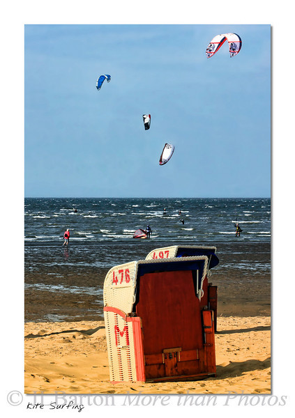 Kite Surfing at the Wattenmeer