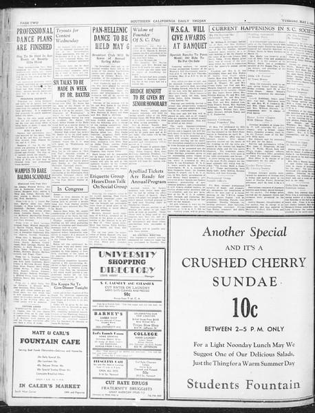 Daily Trojan, Vol. 23, No. 137, May 03, 1932
