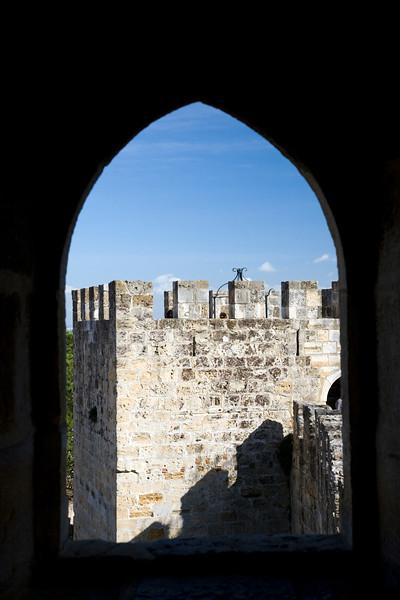 Framed view of Saint George Castle, Lisbon