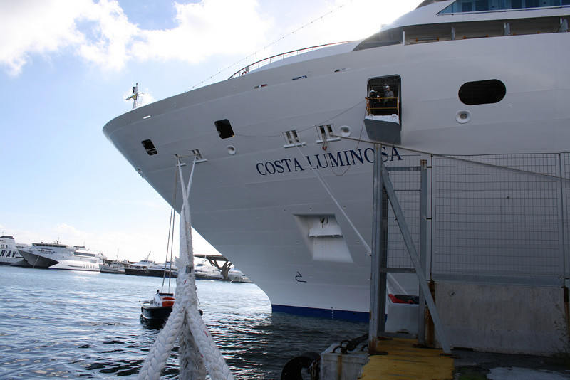 M/S COSTA LUMINOSA : moored bow.