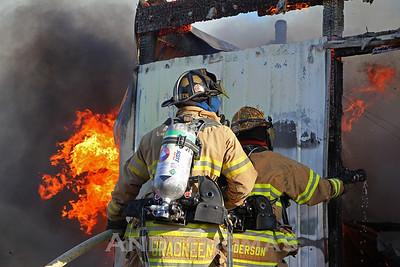 Garage Fire 1325 E. Glocker (12/31/10)