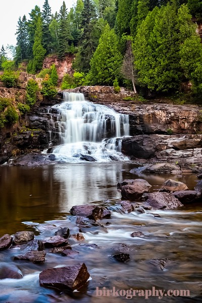 Middle falls at Gooseberry Falls State Park, MN