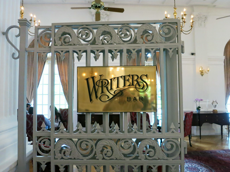 Writers Bar, in the Raffles Hotel lobby