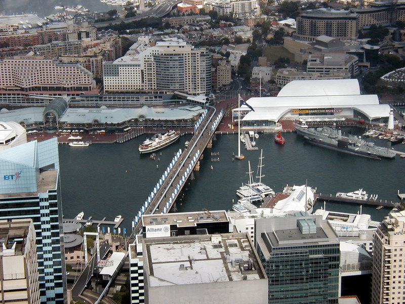 View from Sydney Tower - Darling Harbour