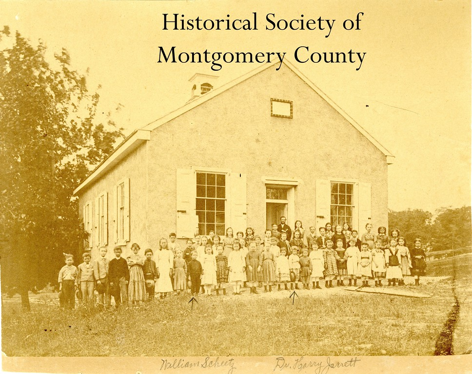 . This photo from the Historical Society of Montgomery County shows the Indian Creek School in 1870. The school was built around 1866 on land originally donated by Isaac Norris for a school.