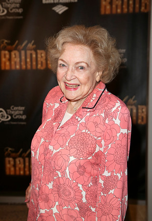 Actress Betty White poses during the arrivals for the opening night performance of