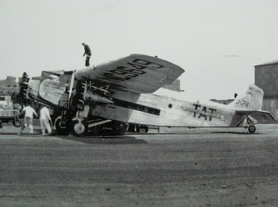 September 3, 1929: Transcontinental Air Transport (T.A.T.) Ford 5-AT-B Tri-Motor (NC9649) Mt. Taylor, NM