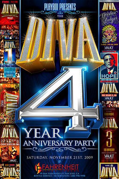 Playboi Presents DIVA 4 Yr Anni @ FAHRENHEIT Ultra Lounge 11.21.09