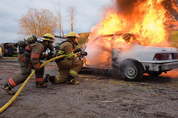 18APR07 York County Fire Training School - Vehicle Fires