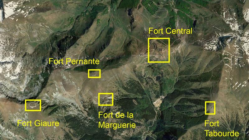 Fort Central en zijn westelijke buurforten