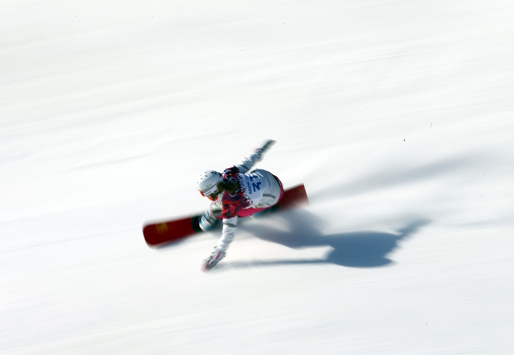 . SOCHI, RUSSIA - FEBRUARY 22: Annamari Chundak of the Ukraine competes during the Women\'s Parralel Slalom Qualification on day 15 of the Sochi 2014 Winter Olympics at Rosa Khutor Extreme Park on February 22, 2014 in Sochi, Russia.  (Photo by Robert Cianflone/Getty Images)