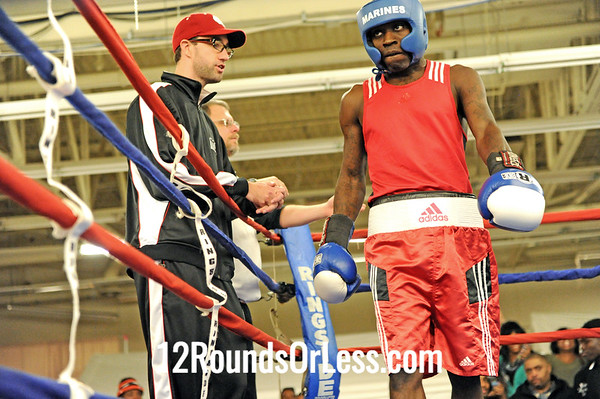 Bout 14 Deshawn Baker -vs- Rajiv Hernandez, Senior, 141 lbs.