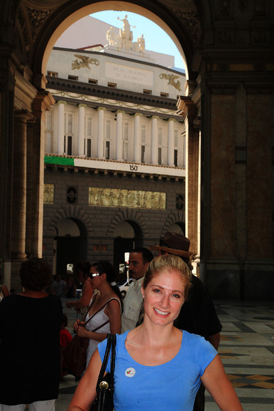 In front of the opera house in Naples.