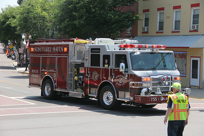 Six County Firemens Convention Parade, Block Party, Danville (6-28-2014)