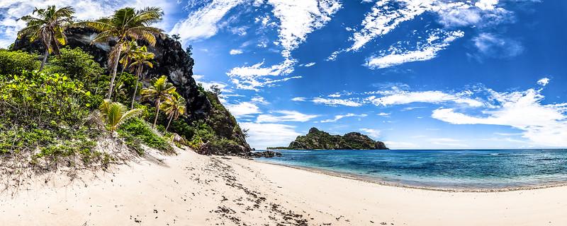 Monuriki view from Monu Island - Mamanuca Archipelago - Fiji