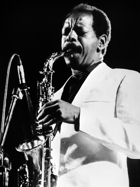 """. A photo taken on June 30, 1983 shows US jazz saxophonist and composer Ornette Coleman performing in Rome. Ornette Coleman, whose 1959 album \""""The Shape of Jazz to Come\"""" is considered one of the most groundbreaking in the genre\'s history, died on June 11, 2015 in New York, at the age of 85. AFP PHOTO / ANSA        (AFP/Getty Images)"""