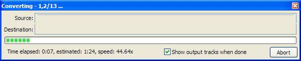 Progress Bar for FLAC files conversion