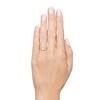 1.15ctw Emerald Cut Diamond Trilogy Ring 2