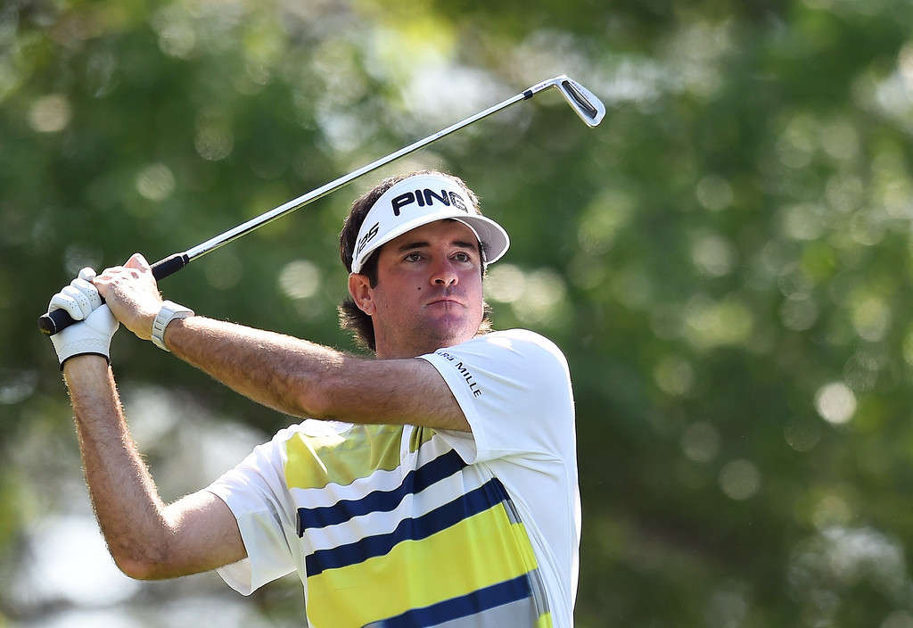 . Bubba Watson of the US tees off on fourth during the second round of the 78th Masters Golf Tournament at Augusta National Golf Club on April 11, 2014 in Augusta, Georgia. AFP PHOTO/Jim WATSON/AFP/Getty Images