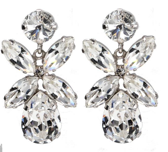 Dione Earrings / Crystal