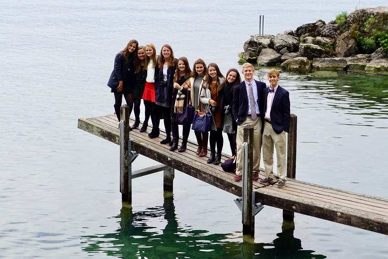 On Lac Leman outside the Chillon Castle