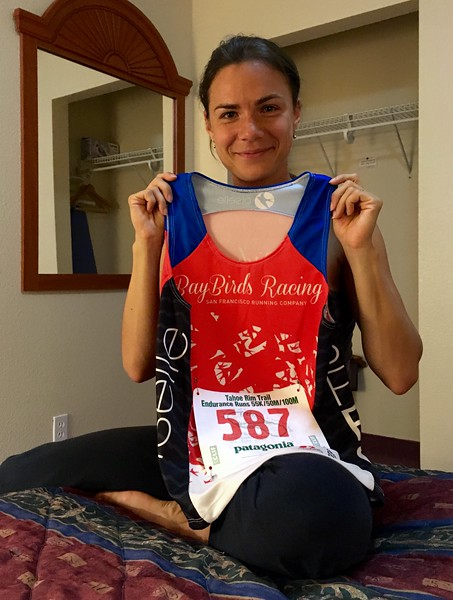 Yuliya is ready for her race tomorrow
