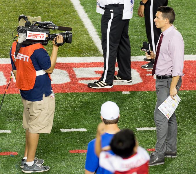An ESPN talking head, talking to the camera