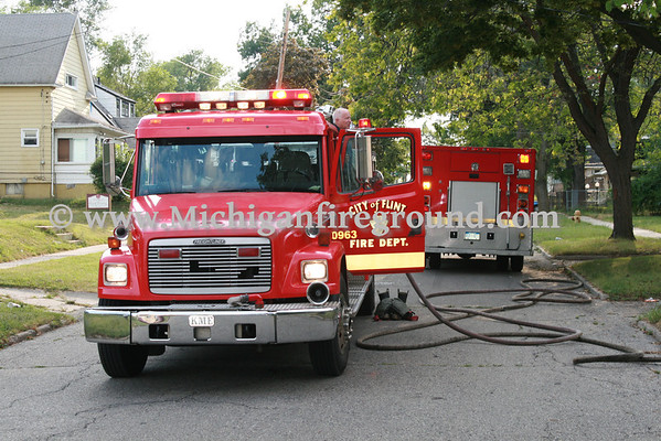 7/30/11 - Flint house fire, 621 E. Dewey St