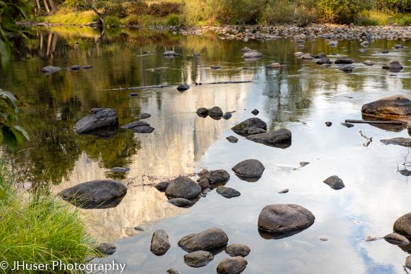 El Capitan reflected in the Merced river