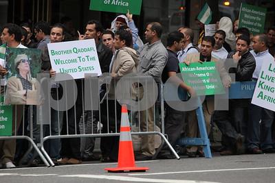 Qadhafi In New York, NY 09