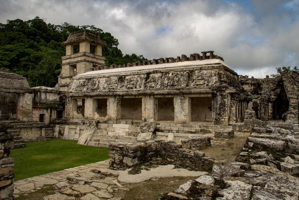 Palenque Ruins in Chiapas Mexico
