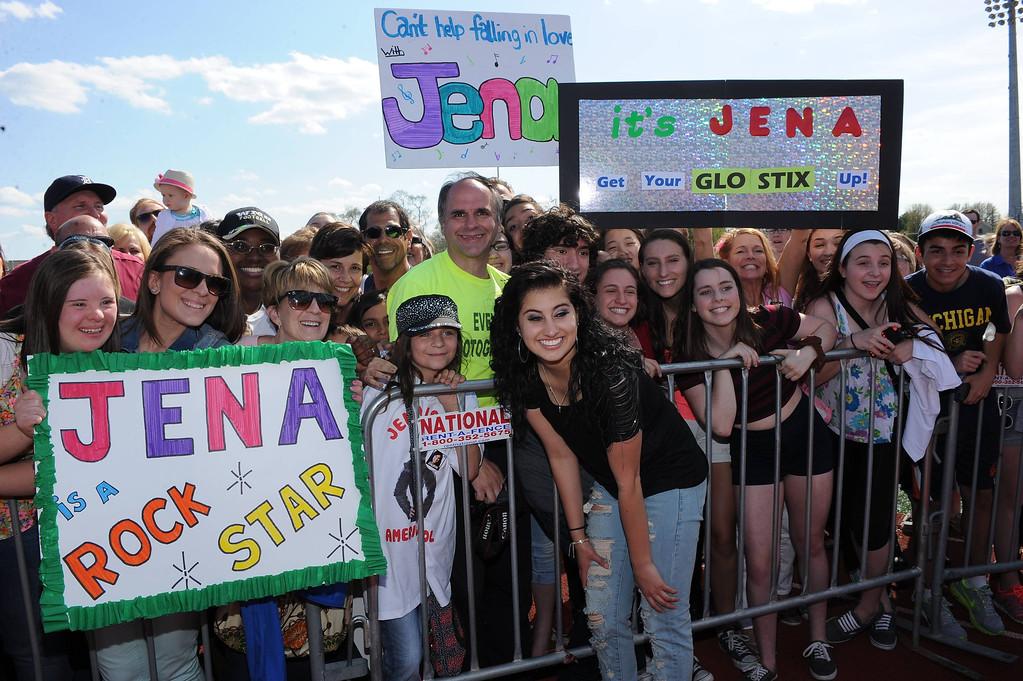 . AMERICAN IDOL XIII: Jena Irene during her hometown visit to Detroit. MI on Saturday, May 10. CR: Ray Mickshaw / FOX. Copyright 2014 FOX Broadcasting.