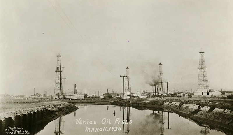 Playa Del Rey Oil fields near Venice, in March 1930