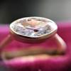 1.17ct Antique Moval Cut Diamond Bezel Ring, GIA E SI1 9