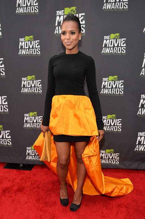 . CULVER CITY, CA - APRIL 14:  Actress Kery Washington arrives at the 2013 MTV Movie Awards at Sony Pictures Studios on April 14, 2013 in Culver City, California.  (Photo by Alberto E. Rodriguez/Getty Images)