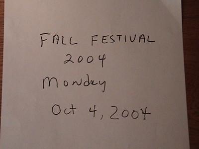 2004 Fall Festival