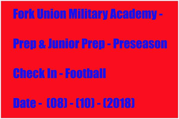 Prep & Junior Prep FB Preseason Check-in