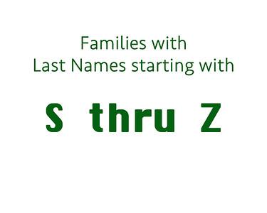 Family Last Name  S thru Z