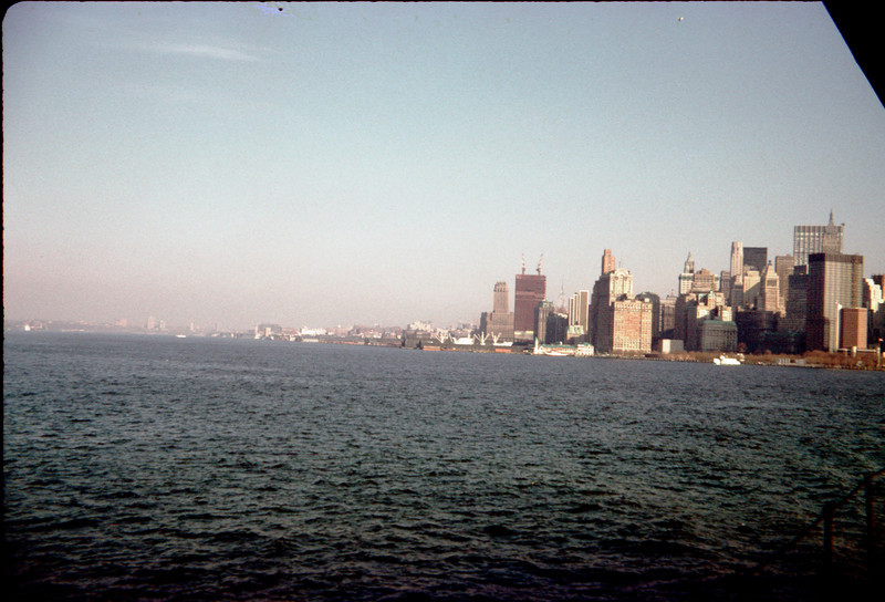 lower manhattan from si ferry showing very early wtc.jpg