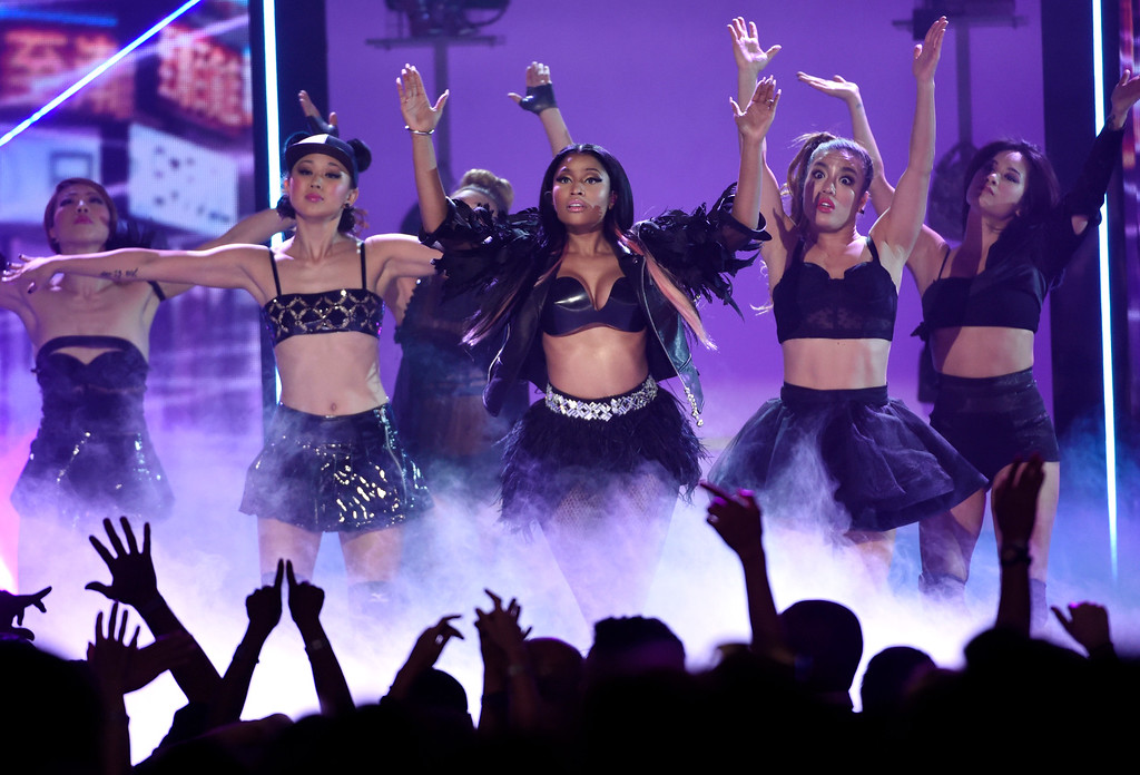 . Nicki Minaj performs at the Billboard Music Awards at the MGM Grand Garden Arena on Sunday, May 17, 2015, in Las Vegas. (Photo by Chris Pizzello/Invision/AP)