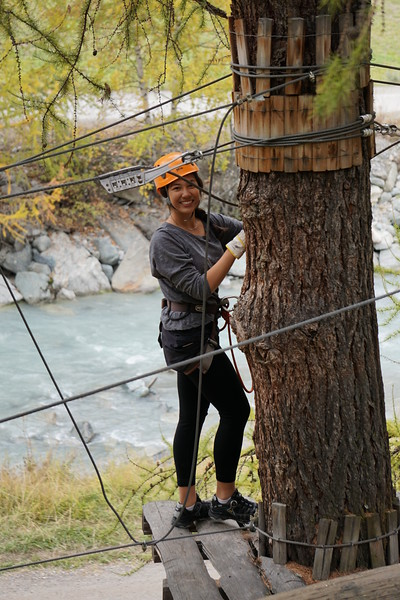 Mia in the Zermatt ropes course